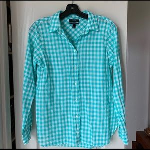 J Crew Gingham Button Up